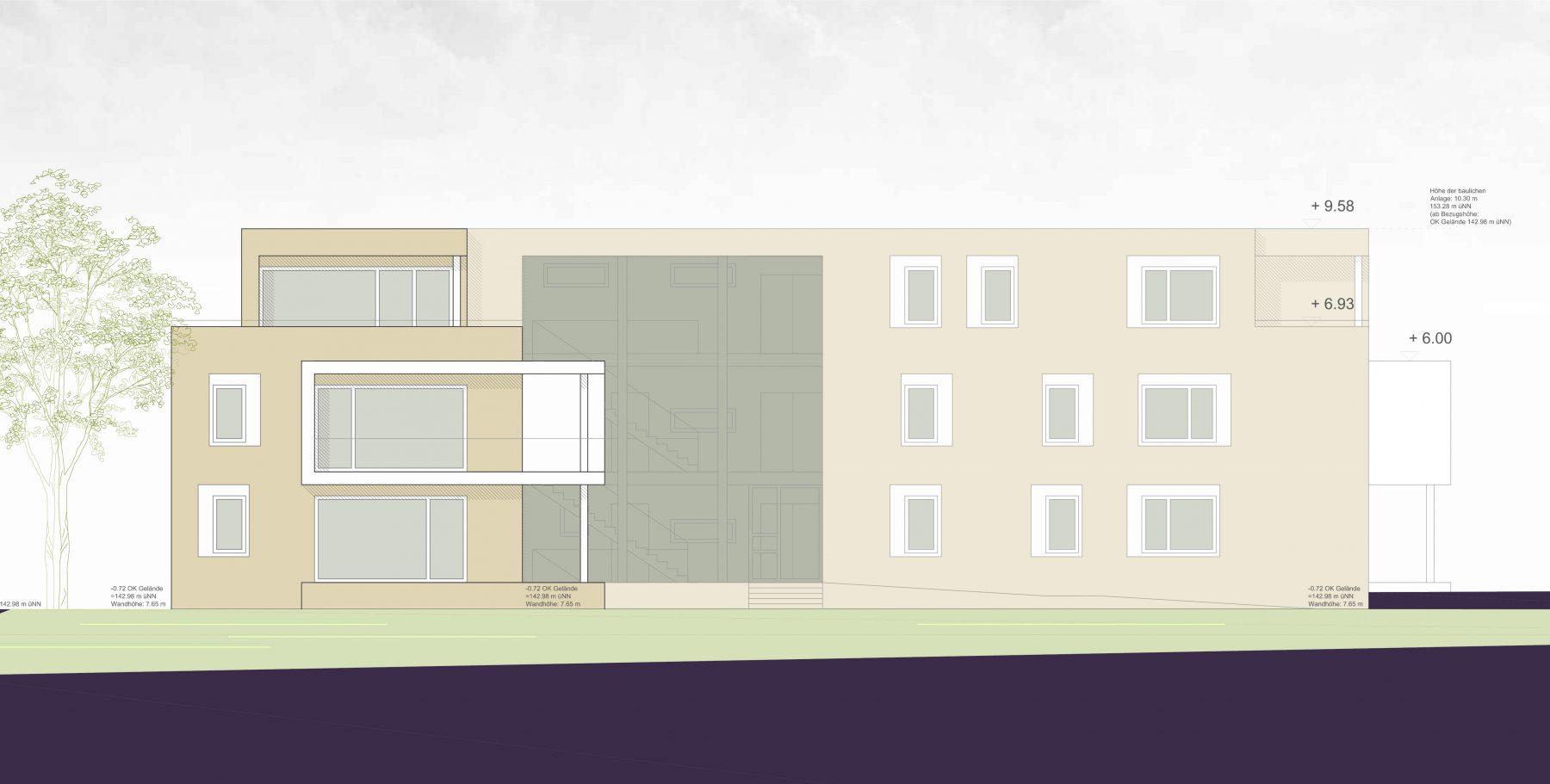 Ansicht Nord-Westen Grünenwald + Heyl . Architekten