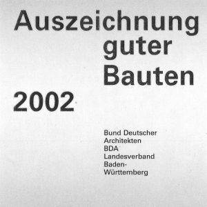 Auszeichnung guter Bauten 2002