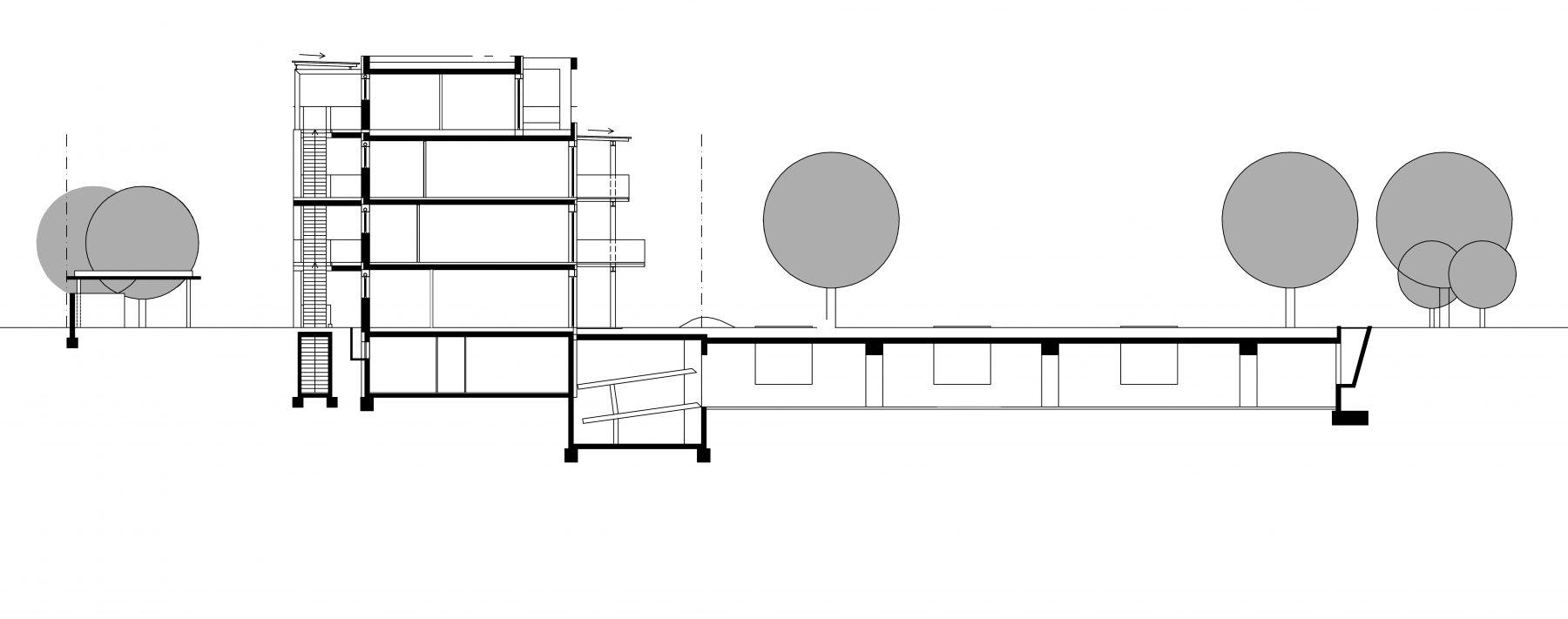 ZAG_Hofgarten-Karlsruhe_1-200-Schnitt_Grünenwald + Heyl . Architekten